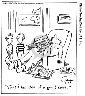 Comic Strip Mike Twohy  That's Life 2007-11-01 relaxation