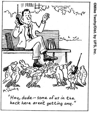 Cartoonist Mike Twohy  That's Life 2007-05-11 telephone