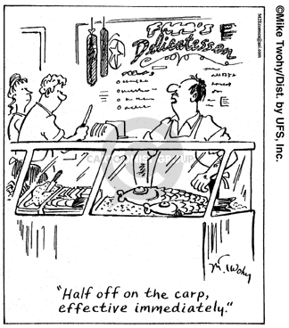 Comic Strip Mike Twohy  That's Life 2007-12-13 deli
