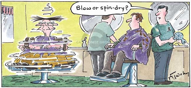Blow or spin-dry?
