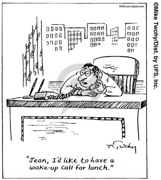 Comic Strip Mike Twohy  That's Life 2007-12-22 asleep