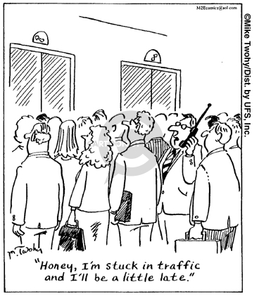 Cartoonist Mike Twohy  That's Life 2007-06-22 phone