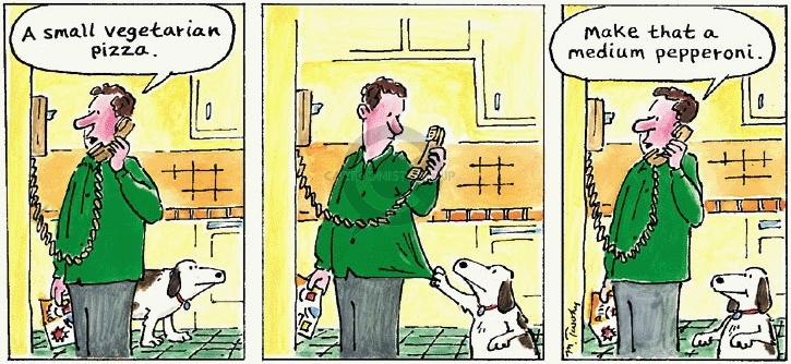 Comic Strip Mike Twohy  That's Life 2007-12-09 vegetarianism