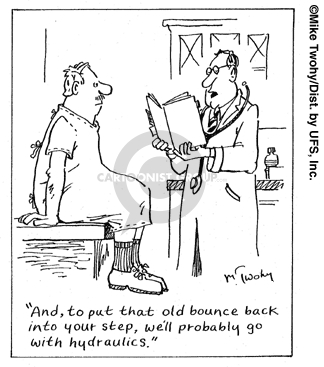 Cartoonist Mike Twohy  That's Life 2007-07-06 patient