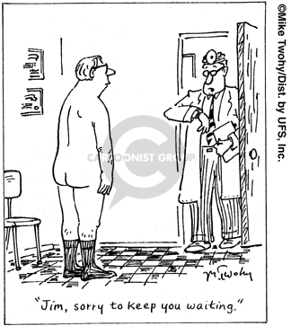 Cartoonist Mike Twohy  That's Life 2007-07-24 patient