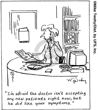 Cartoonist Mike Twohy  That's Life 2007-07-28 illness