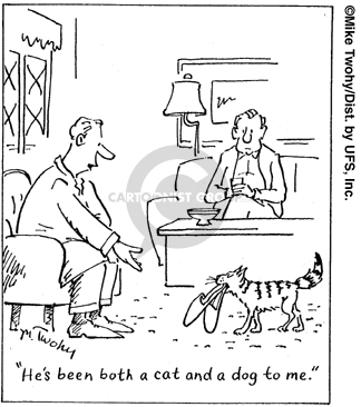 Comic Strip Mike Twohy  That's Life 2007-07-31 cat dog