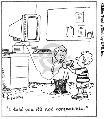 Cartoonist Mike Twohy  That's Life 2007-08-24 telephone