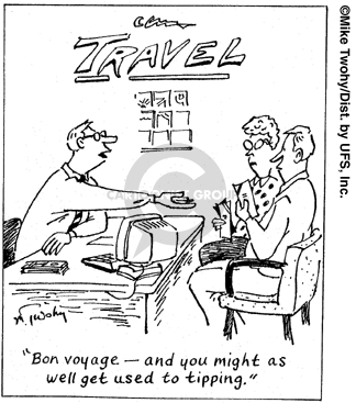 Comic Strip Mike Twohy  That's Life 2007-09-12 traveler