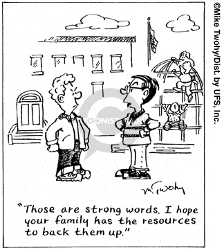 Cartoonist Mike Twohy  That's Life 2007-09-13 family