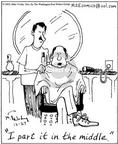 Cartoonist Mike Twohy  That's Life 2002-12-27 cut hair