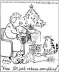 Cartoonist Mike Twohy  That's Life 2002-12-25 cat owner