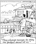 Cartoonist Mike Twohy  That's Life 2003-04-19 gardening