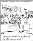 Cartoonist Mike Twohy  That's Life 2003-04-26 meat