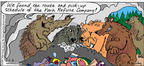 Cartoonist Mike Twohy  That's Life 2003-07-06 wildlife
