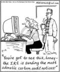 Cartoonist Mike Twohy  That's Life 2004-04-12 tax audit
