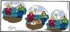 Cartoonist Mike Twohy  That's Life 2004-06-13 dog fight