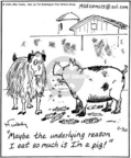 Cartoonist Mike Twohy  That's Life 2004-11-30 farm animal