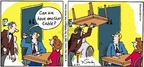 Cartoonist Mike Twohy  That's Life 2005-02-27 restaurant table