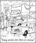 Cartoonist Mike Twohy  That's Life 2005-03-07 car accident