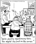 Cartoonist Mike Twohy  That's Life 2005-04-09 bar