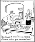Cartoonist Mike Twohy  That's Life 2005-04-19 ex-husband