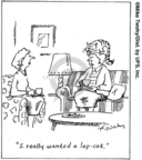 Cartoonist Mike Twohy  That's Life 2007-07-23 lap