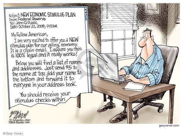 Cartoonist Gary Varvel  Gary Varvel's Editorial Cartoons 2008-10-22 economy