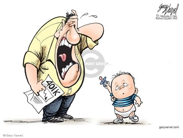 Cartoonist Gary Varvel  Gary Varvel's Editorial Cartoons 2008-10-25 Wall Street