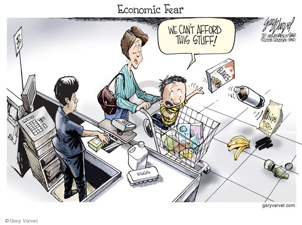 Cartoonist Gary Varvel  Gary Varvel's Editorial Cartoons 2008-11-07 recession
