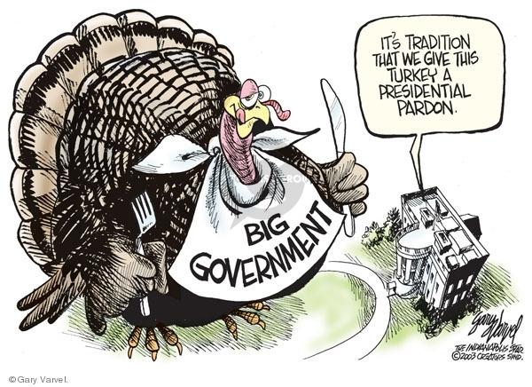 Gary Varvel  Gary Varvel's Editorial Cartoons 2008-11-26 Thanksgiving turkey