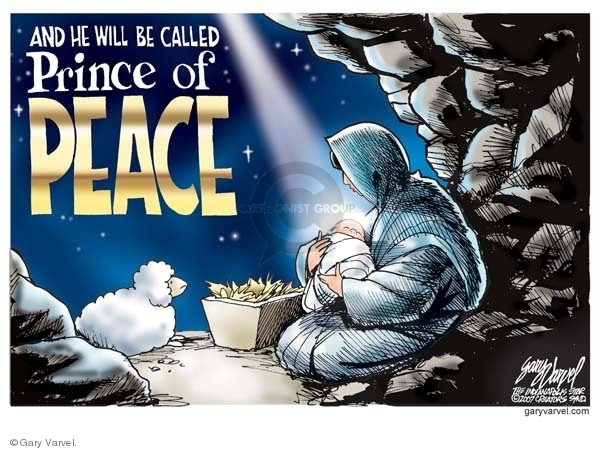 Gary Varvel  Gary Varvel's Editorial Cartoons 2008-12-19 peace