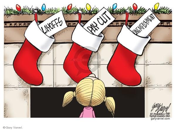 Cartoonist Gary Varvel  Gary Varvel's Editorial Cartoons 2008-12-22 recession