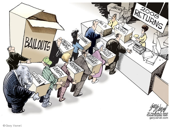Cartoonist Gary Varvel  Gary Varvel's Editorial Cartoons 2008-12-29 Wall Street