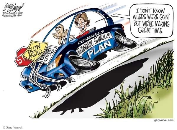 Cartoonist Gary Varvel  Gary Varvel's Editorial Cartoons 2009-01-05 recession