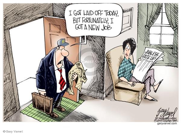 Cartoonist Gary Varvel  Gary Varvel's Editorial Cartoons 2009-01-12 recession