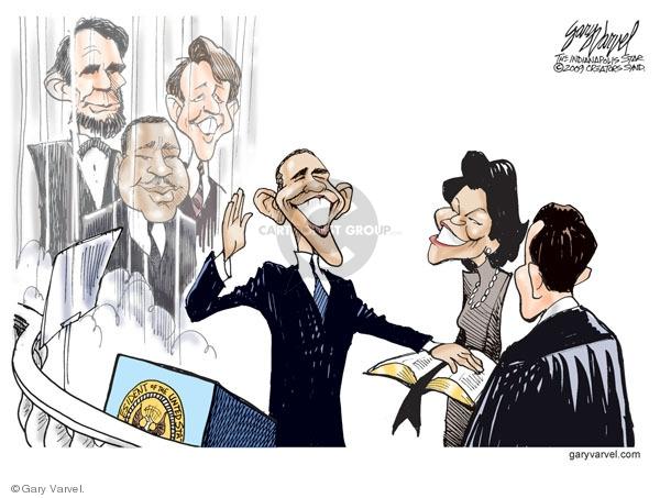 Cartoonist Gary Varvel  Gary Varvel's Editorial Cartoons 2009-01-20 Barack Obama