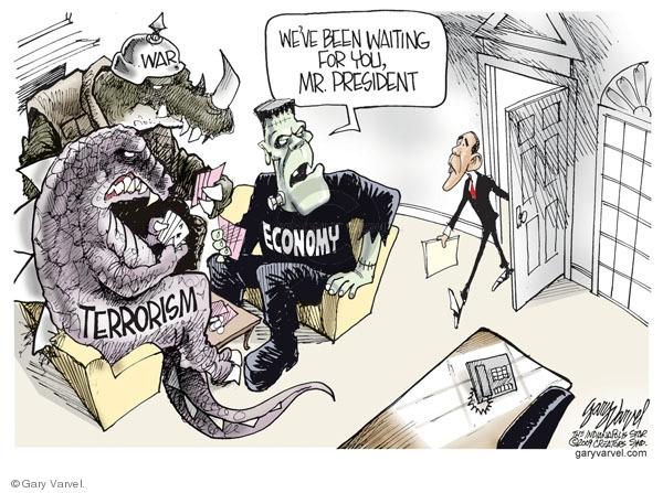 Cartoonist Gary Varvel  Gary Varvel's Editorial Cartoons 2009-01-21 Barack Obama
