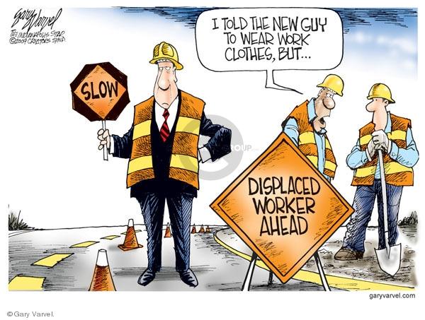 Cartoonist Gary Varvel  Gary Varvel's Editorial Cartoons 2009-01-22 construction