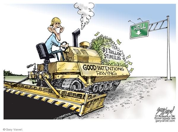 Cartoonist Gary Varvel  Gary Varvel's Editorial Cartoons 2009-01-26 construction