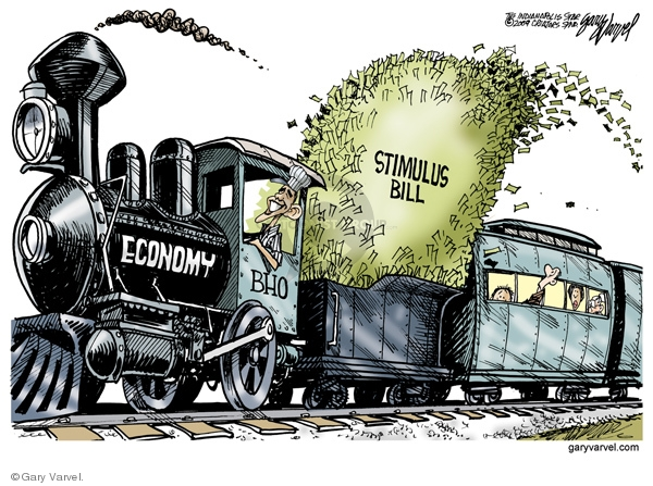 Cartoonist Gary Varvel  Gary Varvel's Editorial Cartoons 2009-02-18 economy