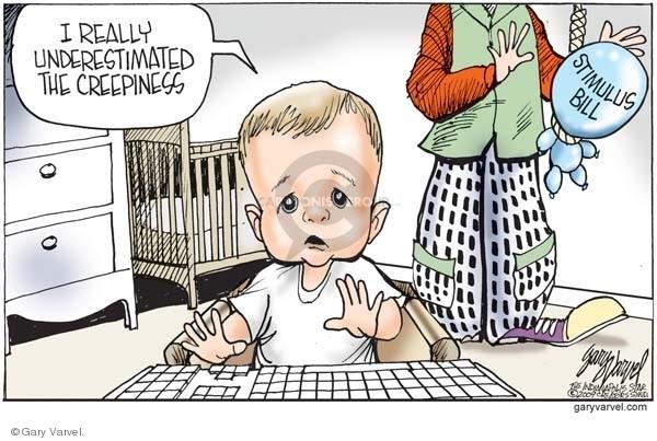Cartoonist Gary Varvel  Gary Varvel's Editorial Cartoons 2009-02-24 reaction