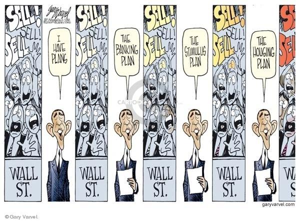 Cartoonist Gary Varvel  Gary Varvel's Editorial Cartoons 2009-02-24 Wall Street