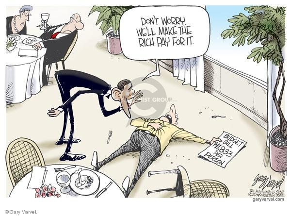 Gary Varvel  Gary Varvel's Editorial Cartoons 2009-02-27 federal budget