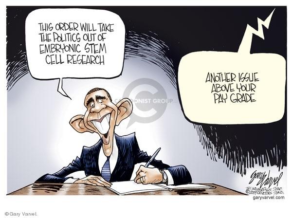 Cartoonist Gary Varvel  Gary Varvel's Editorial Cartoons 2009-03-12 Barack Obama