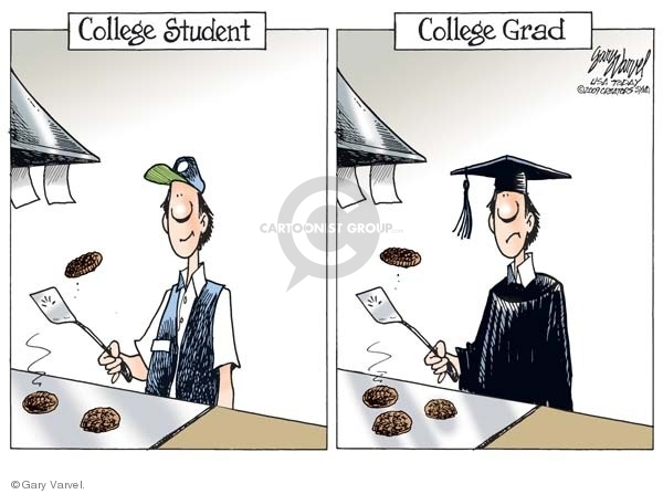 Cartoonist Gary Varvel  Gary Varvel's Editorial Cartoons 2009-03-17 graduate