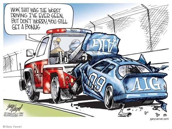 Cartoonist Gary Varvel  Gary Varvel's Editorial Cartoons 2009-03-18 worry