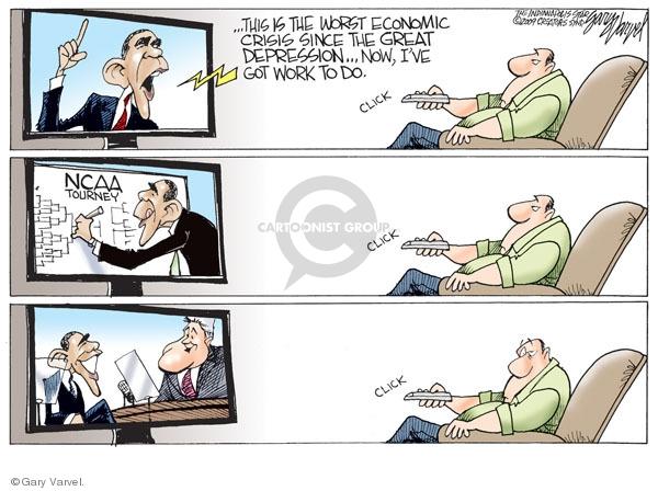 Cartoonist Gary Varvel  Gary Varvel's Editorial Cartoons 2009-03-20 economy