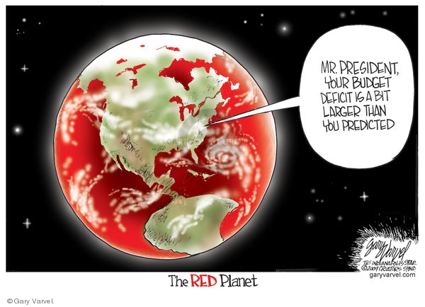 Cartoonist Gary Varvel  Gary Varvel's Editorial Cartoons 2009-03-23 red ink