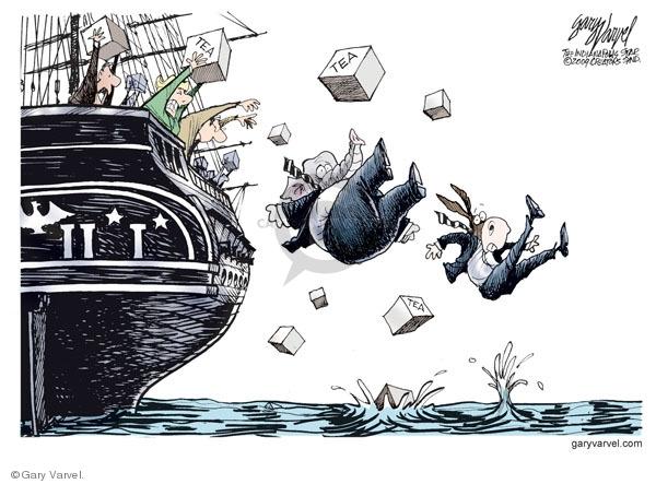 Gary Varvel  Gary Varvel's Editorial Cartoons 2009-04-16 republican party